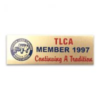 TLCA 1997 Dash Plaque