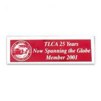 TLCA 2001 Dash Plaque