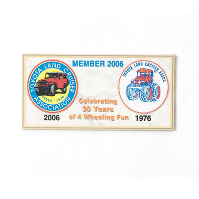 2006 Dash Plaque