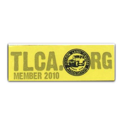TLCA 2010 Dash Plaque