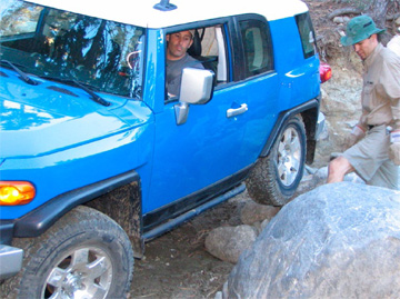 Joe Bacal negotiates his way through the Rubicon Trail. Photo courtesy of Joe Bacal