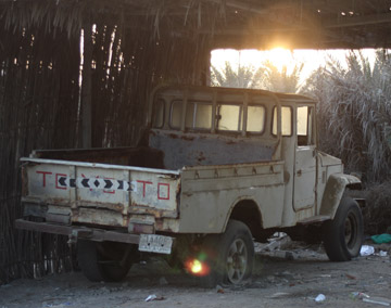 The end of the line for an old FJ45 that clearly saw its fair share of work.